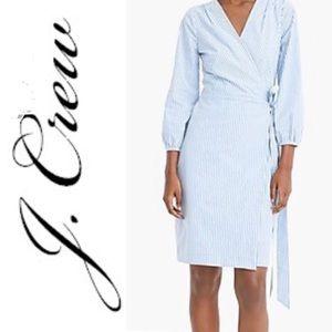 J.Crew Blue Wrap Dress Sz 16
